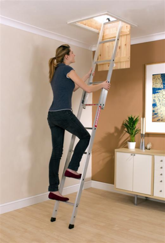2 Section Youngman Spacemaker Aluminium Loft Ladder 302340