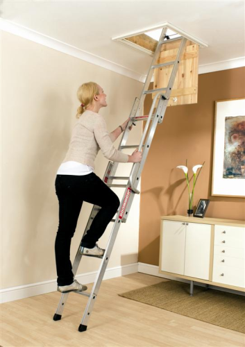 3 Section Youngman Easiway Aluminium Loft Ladder 313340