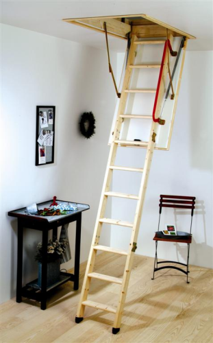 3 Section Youngman Eco S Line Timber Loft Ladder With Hatch 345345