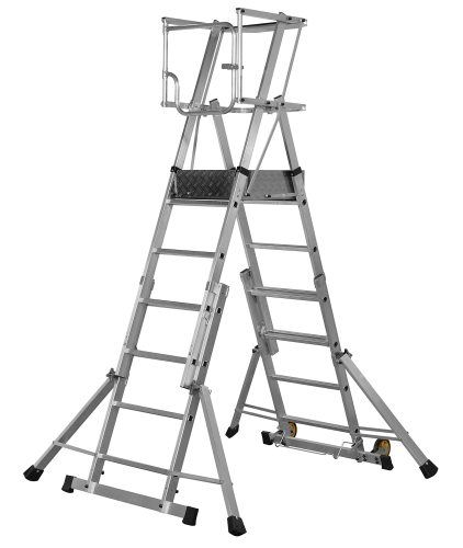 Youngman 4 - 6 Tread Teleguard Platform Ladder 316515