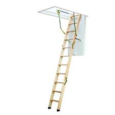 Youngman Click Fix 76 Timber Loft Ladder With Hatch